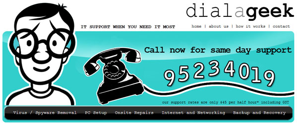 Dial a geek - Website - Mandurah, Rockingham, Baldivis