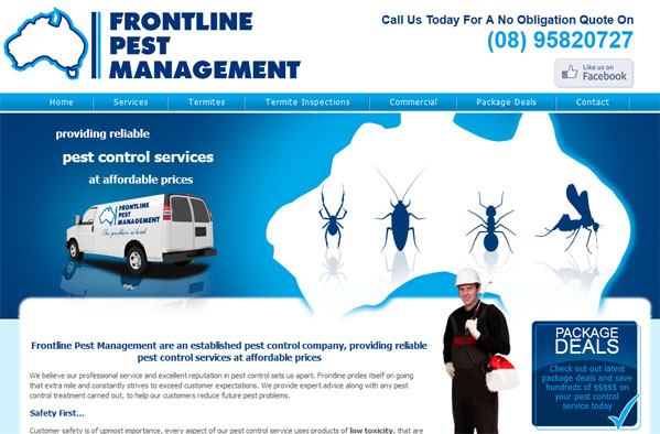 Frontline Pest Control - Small Business Website - Mandurah