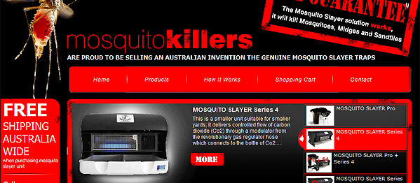 Mosquito Killers - eCommerce (online shop) Website - Mandurah