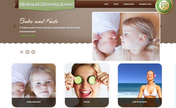 Natural Beauty Lane eCommerce