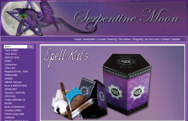 Serpentine Moon ecommerce - online shop