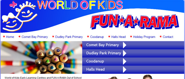 World of Kids - Small Business Website - Mandurah